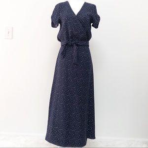 Audrey 3+1 Navy Wrap Short Sleeve Dress Size XS/S
